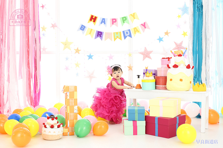 つかまり立ちできたよ~1歳誕生日撮影