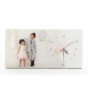 人気ナンバー2!オリジナルフォトクリスタル時計
